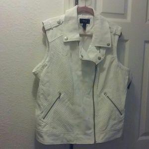 Style & Co Woman's Pleather Vest